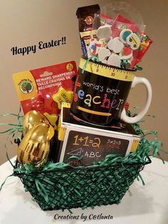 Girls basketball easter basket gift baskets pinterest easter worlds best teacher easter basket negle Image collections