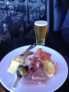 MONA Hobart ferry cheese plate. Yum. Loving the posh pit.