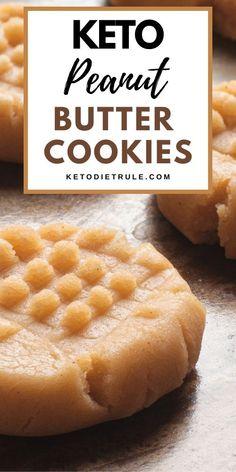 Keto Peanut Butter Cookies, Sugar Free Cookies, Peanut Butter Recipes, Keto Cookies, Keto Food List, Keto Foods, Keto Snacks, Coconut Flour, Almond Flour