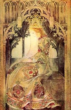 Sulamith Wülfing (January 1901 – was a German artist and illustrator. Her ethereal, enigmatic works depict fairy tales or mystical subjects. Art And Illustration, Vintage Illustrations, Fantasy Kunst, Fantasy Art, Art Nouveau, Fairytale Art, Pics Art, Faeries, Oeuvre D'art