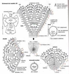 Crochet ideas that you'll love Crochet Hat Tutorial, Crochet Diagram, Crochet Motif, Diy Crochet, Crochet Designs, Crochet Doilies, Crochet Patterns, Christmas Angel Decorations, Crochet Christmas Ornaments