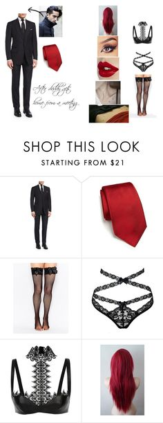 """After a meeting."" by x-little-princess-x ❤ liked on Polyvore featuring beauty, Tom Ford, RVR, Leg Avenue, Agent Provocateur, Alexander McQueen, GoodGirl, bdsm, ddlg and Submissive"