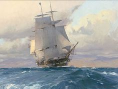 U.S. Frigate Congress on the California Coast by Christopher Blossom LIMITED EDITION CANVAS