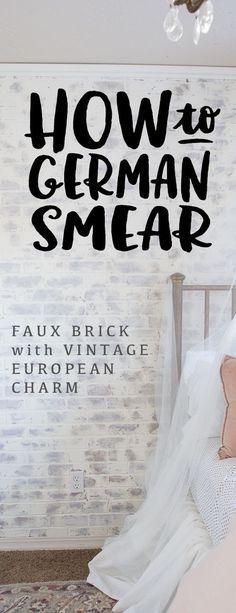 German Smear/ German Schmear Faux Brick Wall