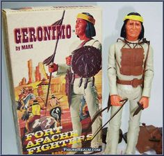 Geronimo (Cream) from Best of the West (Marx) - Fort Apache Fighters manufactured by Marx [Loose]