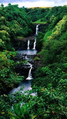 places i'd like to visit | Amazon Rainforest Waterfall, Brazil | Awesome Places I'd Like to See