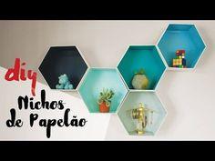 DESAFIO DIY | Nichos Hexagonais de Papelão por Isabelle Verona - YouTube