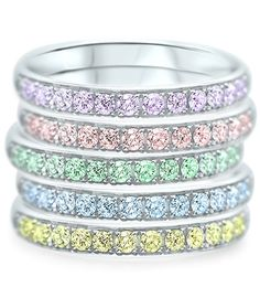Memoires Rainbow Marie, Rainbow, Bracelets, Silver, Collection, Jewelry, Gold, Promise Rings, Diamond