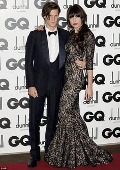 SUCH a cool couple and Daisy Lowes dress...wow
