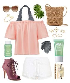 """""""Untitled #228"""" by sereed-1 ❤ liked on Polyvore featuring Victoria's Secret, Robert Rose, Origins, Sisley Paris, Anna Sui, Michael Antonio, Rebecca Taylor, Topshop, Magid and Jessica Carlyle"""