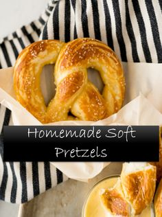 Homemade Soft Pretzels, Pretzels Recipe, Homemade Donuts, Appetizer Recipes, Snack Recipes, Appetizers, Cooking Recipes, Snacks, Bake Sale Recipes