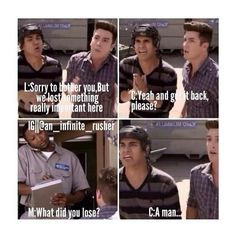one of my favorite moments. Leave it to Carlos and Logan to lose a human being...