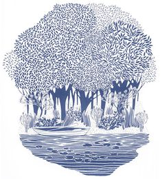 Lily Pond - Limited Edition Silk Screen Print