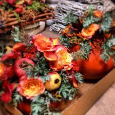 Halloween, zucche e fiori...