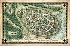 A series of fantastical city maps created for a variety of book and game projects.