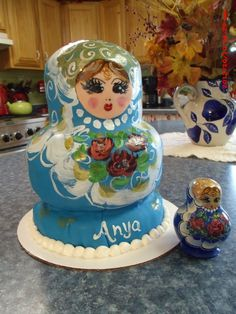 A Russian doll cake for my lovely daughter-in-law Anya. She had tears in her eyes when she saw it:) by Christina's Cakery