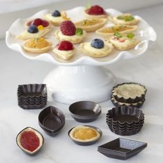We own these and they are adorable and fabulous! :D Petit Fours Mold Set from @Williams-Sonoma