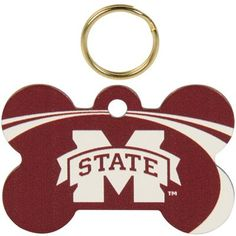 Mississippi State Bulldogs Bone Engravable Pet ID Tag-Oliver needs this :)