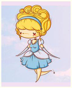 Chibi Cinderella | Oba, agora é um trio chibi! Temos aqui Woody, Jessie e Buzz! Bem que ...