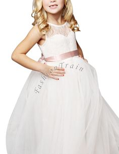 Formal Flower Girl Dress Kids Pageant Bridesmaid Wedding Prom Party Ball Gown | eBay