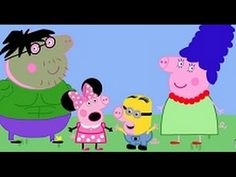 PEPPA PIG: Video de disfraces peppa y familia Pig, Hulk, Minnie, Simpson...