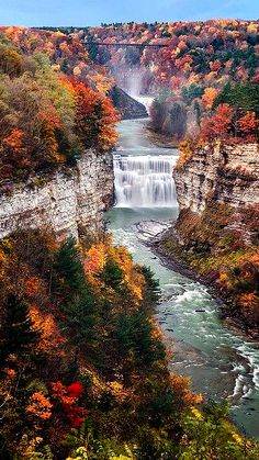 Middle Falls on The Genesee River in Letchworth State park~Castile NewYork  photo:Mark papke on fineartamerica