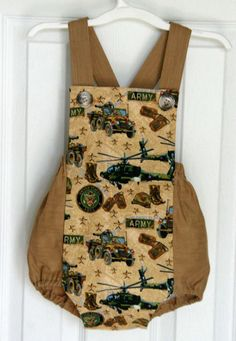 United States Army Baby Infant Toddler Boys Jumper, Military Kids Romper, Army Baby Boy Sunsuit, Baby Boy Overalls