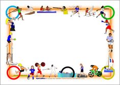 Olympics Page Borders - SparkleBox Best Picture For Olympics Decorations For Your Taste Olympic Crafts, Olympic Games, Page Borders Design, Border Design, Sports Day Border, Printable Border, Printable Labels, Certificate Design Template, Obelix
