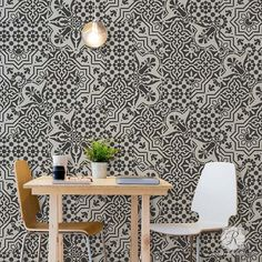 Whether you are painting your walls, floor or kitchen backsplash, Spanish Tile Stencils create the faux tile look that you've always wanted for DIY home decor.