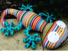 Lionel Lizard - cute lizard softie toy pattern - Fresh Hope patterns