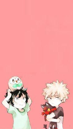 KatsuDeku~勝デク~Kacchan + Deku~Bakugou x Midoriya My Hero Academia Memes, Hero Academia Characters, My Hero Academia Manga, Deku X Kacchan, Animes Wallpapers, Cute Wallpapers, Anime Guys, Me Me Me Anime, Anime Lock Screen