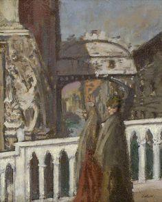Walter Sickert (British 1860-1942), The Bridge of Sighs, Venice, c.1901. Oil on canvas.viahuariqueje