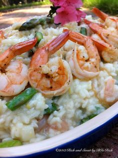 Seafood  Asparagus and Champagne Risotto Recipe ?.