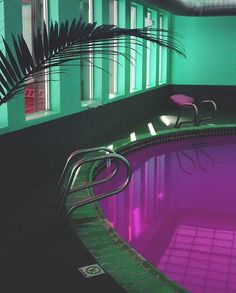 Pool of my dreams 80s Interior Design, 80s Design, Interior And Exterior, 1980s Interior, Pastel Interior, Cafe Interior, Le Palace, Wallpaper Animes, Retro Waves