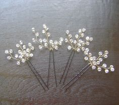 Nupcial cristales perno de pelo accesorios Wedding por PrettyNatali                                                                                                                                                                                 Más