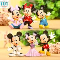 New 6pcs Mickey Minnie Mouse Figure Toys Keychain Anime Key Ring Pendants…