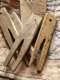 Primitive Clothespins...these must be handmade. I've never seen any like these.