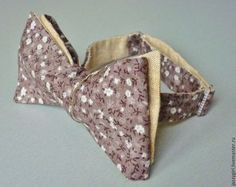 Галстук-бабочка самовяз - лён с хлопком двусторонний - самовяз,bow tie