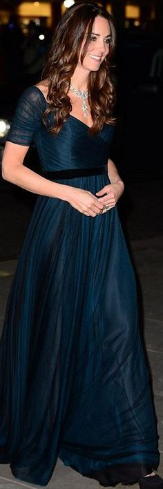 Kate Middleton: Dress – Jenny Packham  Shoes – Jimmy Choo  Necklace – Cartier Loaned from the Queen