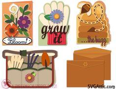 JGW Blooming Card Kit - SVGattic.com.  Snapdragon Snippet Designs.