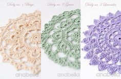 As I promised you, here are them: the shabby-chic decor inspiration crochet doilies . Crochet Circles, Crochet Doily Patterns, Crochet Round, Thread Crochet, Crochet Crafts, Crochet Yarn, Crochet Dollies, Crochet Flowers, Doilies