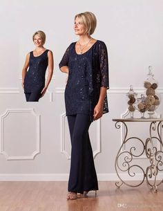 2017 New Fashion Formal Pant Suits For Mothers Bride Custom Plus Size Mother Of The Groom Dresses Lace Womens Navy Blue Dresses Evening Mathar Son Mother Of The Groom Suit From Global_love, $101.31| Dhgate.Com