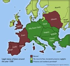 1500 map of Europe and Anatolia where Jewish people were allowed. 1500 map of Europe and Anatolia where Jewish people were allowed. European Map, European Countries, European History, American History, Ancient Aliens, Ancient History, World History Facts, Naher Osten, Holy Roman Empire