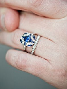 Sapphire Blue Engagement Ring