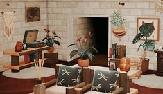 Animal Crossing Cafe, Animal Crossing Characters, Animal Games, House Layouts, Home Interior Design, Living Room, Cozy Living, Cosy, House Design