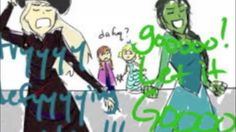 Let It Defy Gravity (Wicked & Frozen mash-up) This is pretty awesome!!! I've seen a ton of the mash up pictures used in it on here!