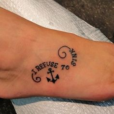 Really!!! This thing needs to sink....I don't get the tattoo.....