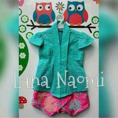 Kebaya for kids IDR 180.000 Baby Girl Romper, Baby Girl Dresses, Girl Outfits, Batik Fashion, Kids Suits, Batik Dress, Dress Silhouette, Diy Dress, Sewing For Kids