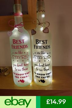 Other Celebrations & Occasions Home, Furniture & DIY bottle crafts birthday Glass Bottle Crafts, Wine Bottle Art, Painted Wine Bottles, Lighted Wine Bottles, Diy Bottle, Vintage Bottles, Vintage Perfume, Antique Bottles, Antique Glass