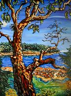 Tugboat Arbutus - oil painting by Julie Johnston